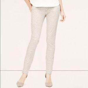 Ann Taylor LOFT Modern Skinny Leopard Print Jeans